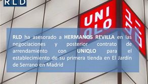 RLD asesora a Hermanos Revilla en las negociaciones y contrato de arrendamiento con UNIQLO en Madrid