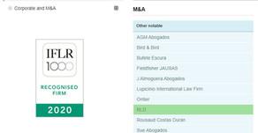 RLD incluida en el Ranking IFLR1000 2020