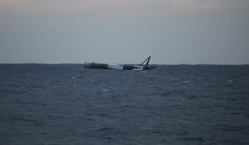 Falcon 9 launches satellite successfully - Unexpectedly lands first stage in water intact