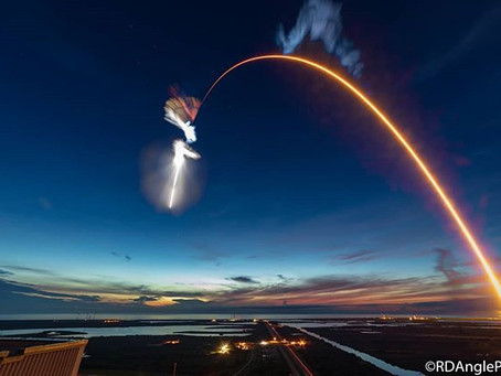 SpaceX launches their last Block 4 rocket, sending Dragon to the ISS