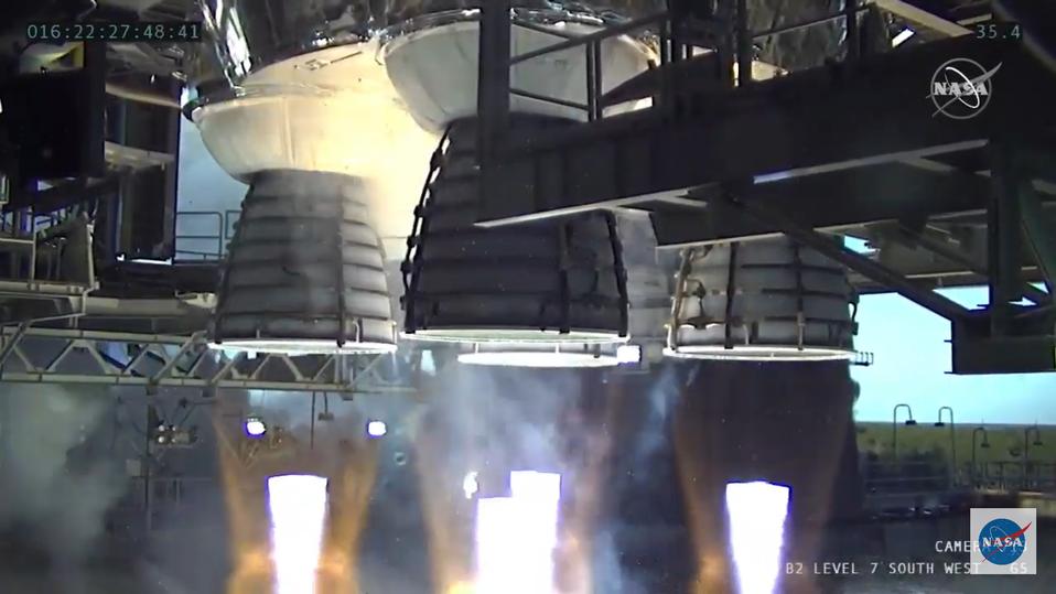 NASA's (partially) Successful SLS Hot Fire Test