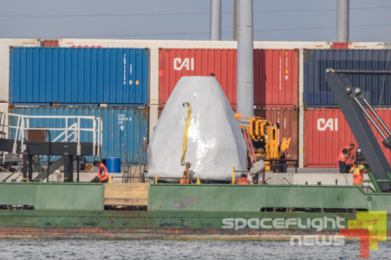 Crew Dragon recovery trainer spotted in Port Canaveral