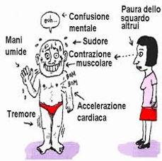 confusione mentale, ansia, tremori, paura, sudorazione, ansia sociale, paura di essere guardati