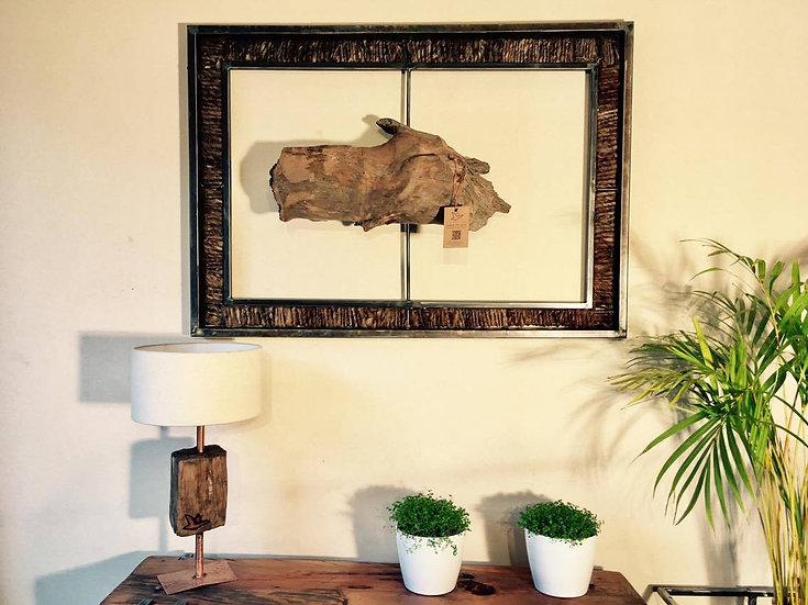 Lana Chilota en colores naturales, acero y madera nativa.