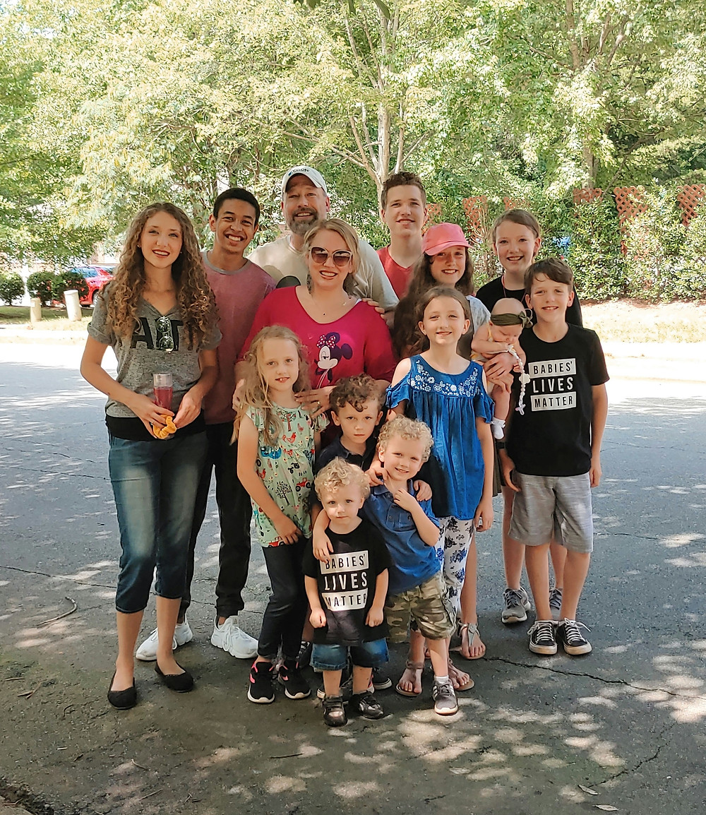 The Metzger family (minus 2 & Grandkids) at the busiest abortion center in the Southeast.