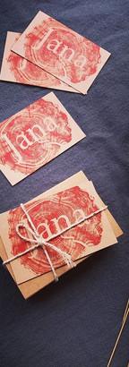 Les jolis packagings Jana et les cartes