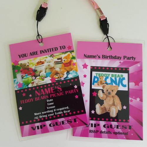 personalised vip party festival passes invites uk bongo badges