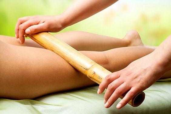 Sessão de bambu terapia