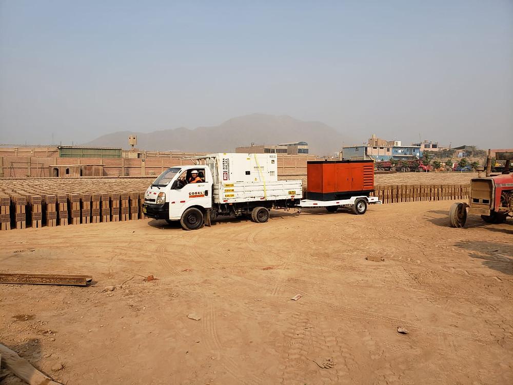 Alquiler de grupo electrógeno en Huachipa a unos de nuestros clientes más importantes en el rubro de construcción.