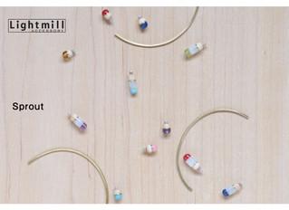 異なる素材の寄せ木アクセサリー Lightmill
