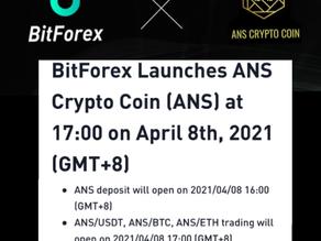 BitForex Listing Date