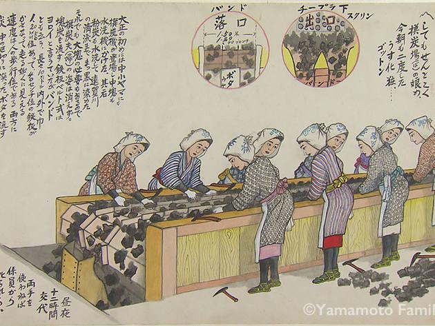 選炭機での作業(選炭婦)