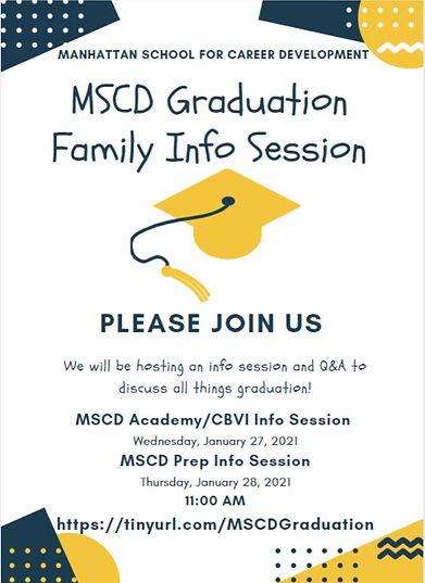 MSCD Graduation Family Info Session Flye