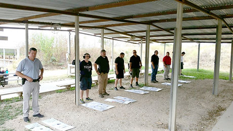Handgun training group class