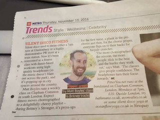 Metro decided my Silent Disco Fitness class is a Trend!
