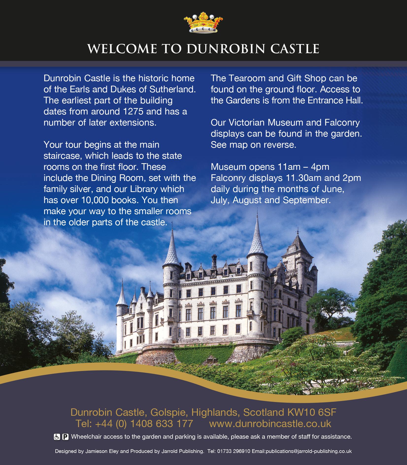 Dunrobin Welcome Leaflet