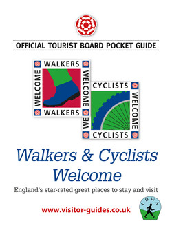 Walkers & Cyclists Welcome
