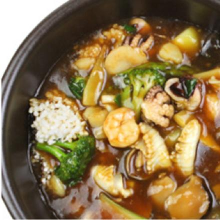 Seafood nurungji tang
