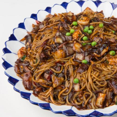 Spicy seafood jangban jjajjang