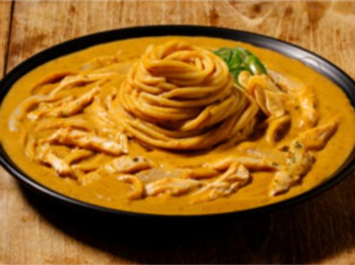 Herb chicken cream curry pasta