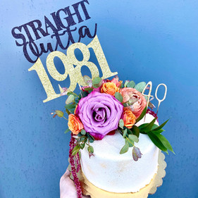 Fresh Floral Birthday Cake