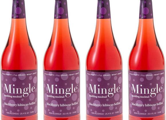 Mingle Blackberry Hibiscus Bellini Mocktail