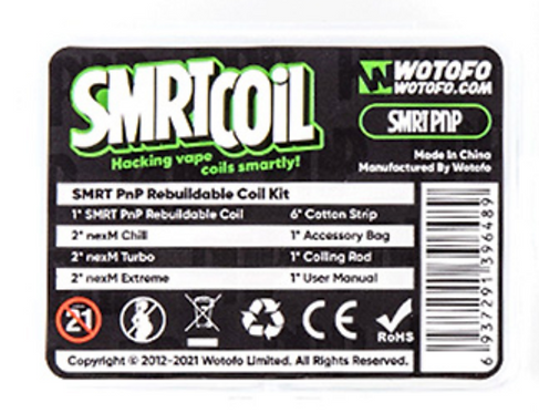 Wotofo SMRT PnP Rebuildable Coil.