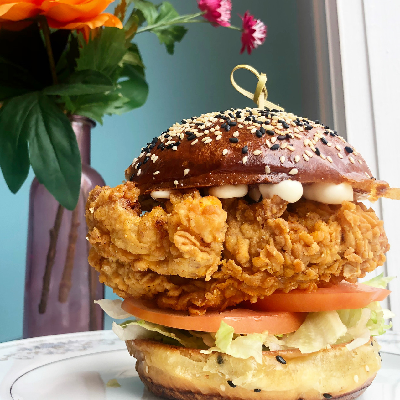 Classic Buttermilk Fried Chicken Burger