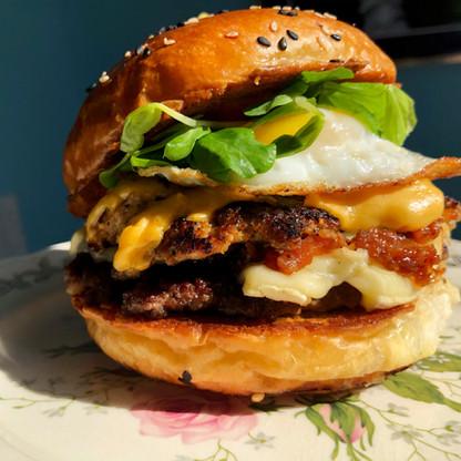 Abe Froman Breakfast Burger