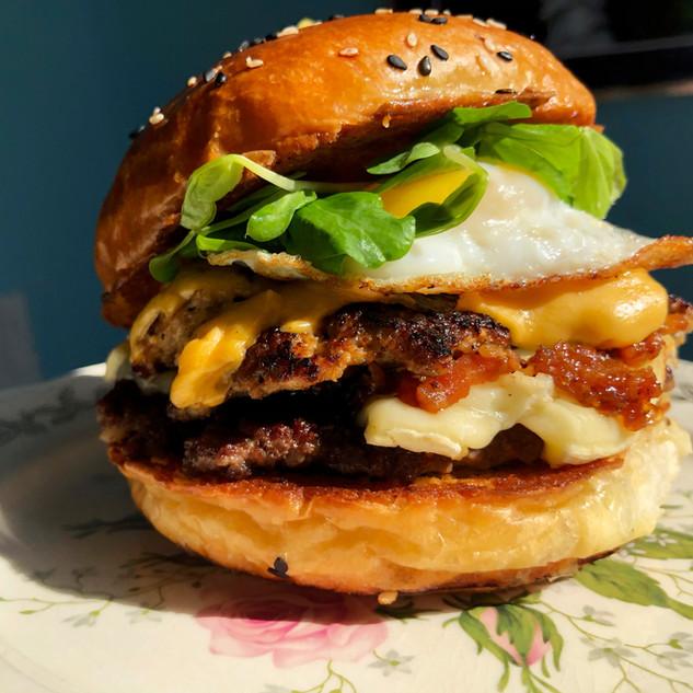 Abe Froman Breakfast Burger.JPG