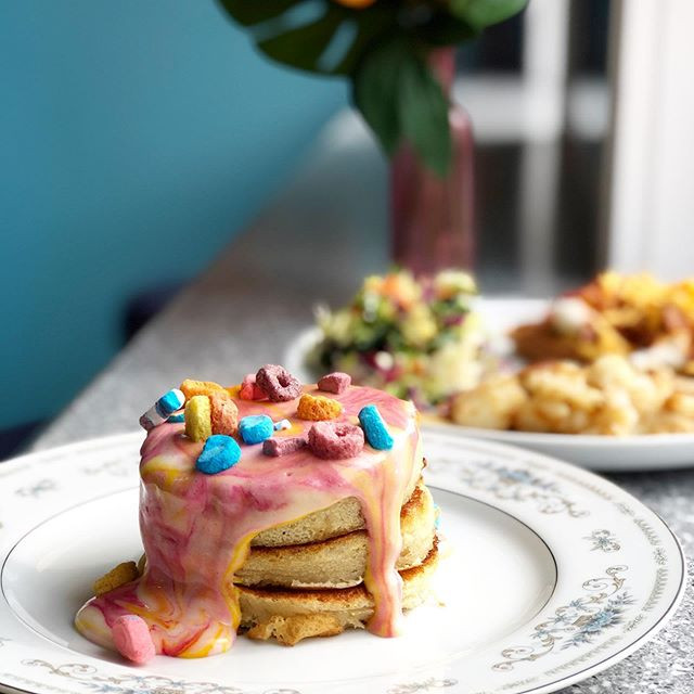 Rainbow Brite Pancakes