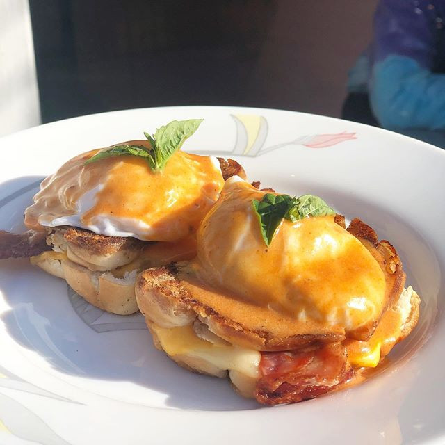 Grilled Cheese Eggs Benny⚡️Two poached e