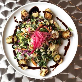 Kale & Crispy Brussels Sprout Salad