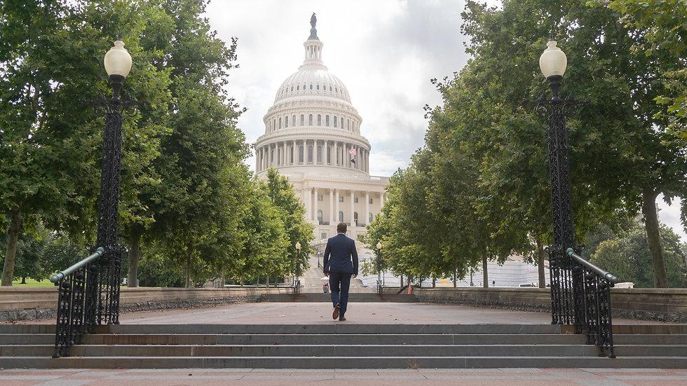 Garrett Walking Towards the Senate