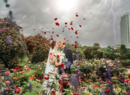 Stephanie and Tom's quarantine Wedding at McGovern Centennial Gardens.