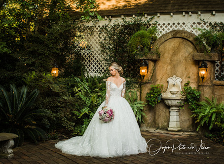 Beautiful bride Karli's Bridal Session at Heather's Glen/Charlie and Karli's Engagement Session
