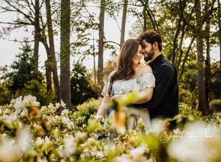 Caroline and Stephen's Engagement at Mercer Botanical Garden