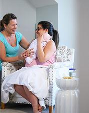 Postpartum mom and therapist