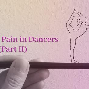 Low back pain in dancers (Part II) 舞者的腰背疼痛 (第二部分)