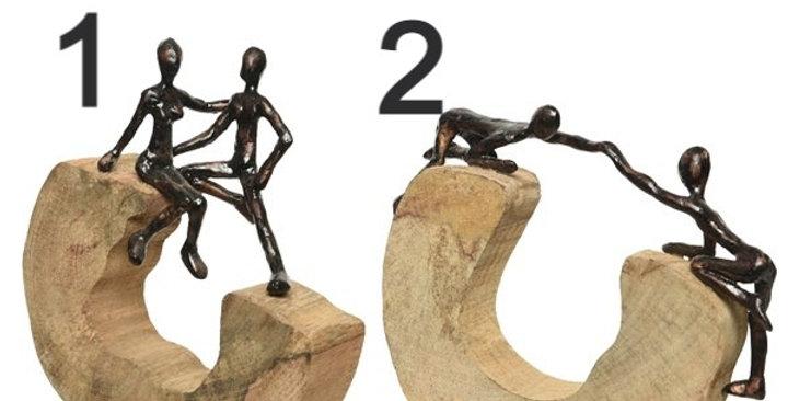 Statues bois de manguier 2 différente