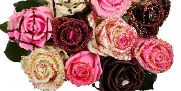 Un Bouquet de 7 roses choco dream (non comestible) + sa verdure