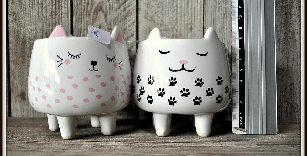 Pot tête de chat diam 10