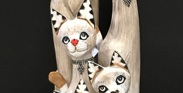 Set de chats en bois