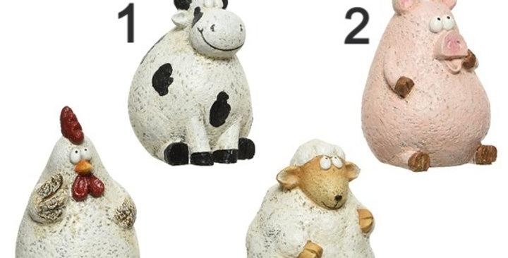 Animal poly résine 4 choix