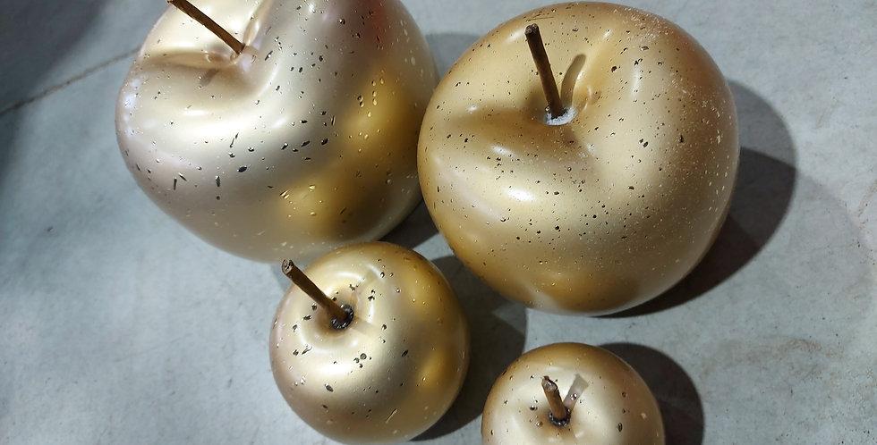 Pomme dorée brillante pack de 4