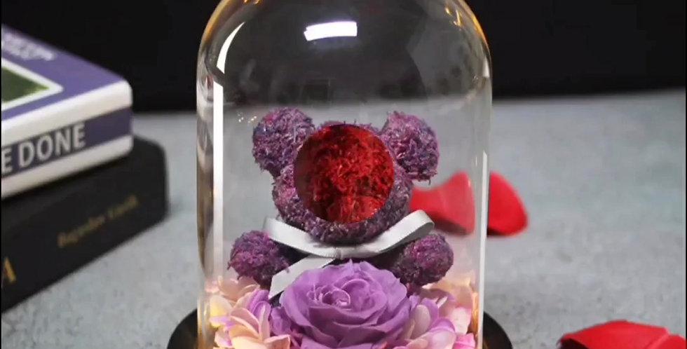 Cloches, ours et rose éternelle