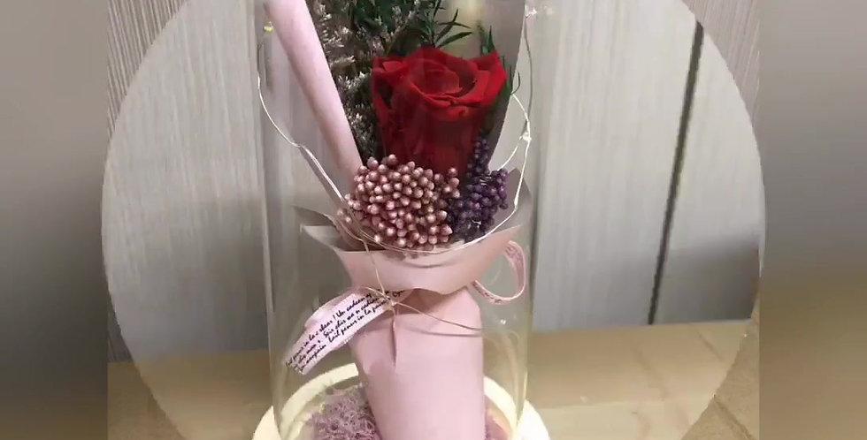 Cloche rose séchée