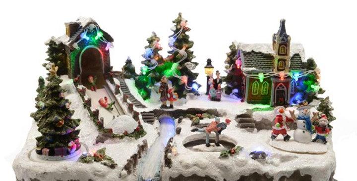 LED village Noel et fibre int