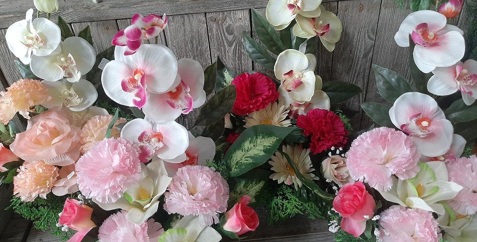 Montage fleurs en béton+-25cm