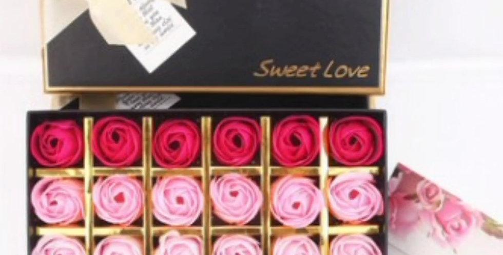 Coffret Roses éternelles (roses savon)